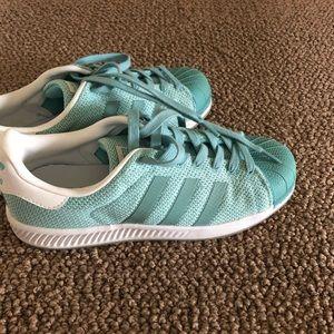 Aqua adidas clam shells
